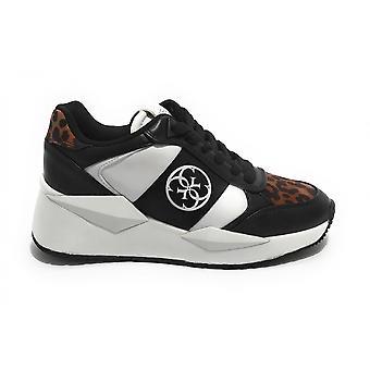 Shoes Women's Sneaker Guess Tesha Running White/ Black Ds21gu28 Fl5tesele12