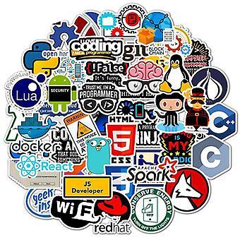 Programmierung Aufkleber Technologie Software Programme Daten Computer Aufkleber