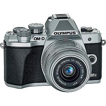 Olympus om-d e-m10 mark iiis spegelfri digitalkamera med 14-42mm iir lins (silver)