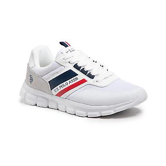 Shoes U.S. Polo Sneaker Gary 125 Ecosuede/ White Fabric Men's Us21up15