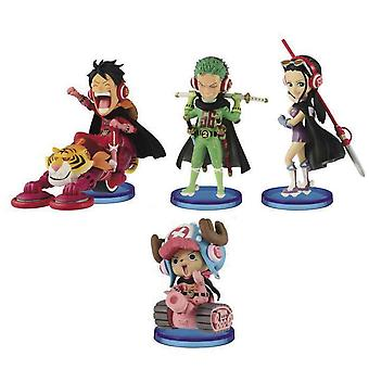 4pcs Figure Set One Piece Lovely Toy Doll Anime Collection