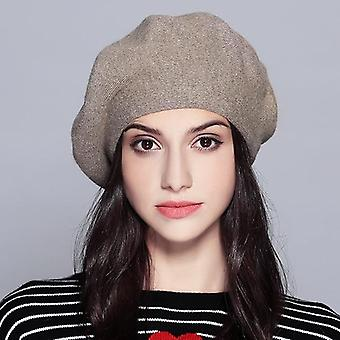 Beret Vogue Hat For Winter Female Knitted Cotton Wool Hats Cap  #mz729