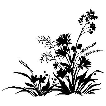 Meadow Silhouette Wood Mounted Stamp