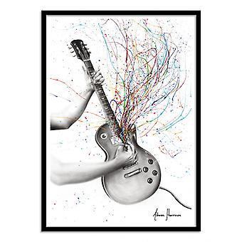 Art-Poster - The star guitar - Ashvin Harrison