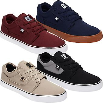 DC Skor Mens Tonik TX Textil Låg Topp Skateboarding Utbildare Sneakers Skor