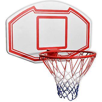 vidaXL basketball hoop set 3-pcs. Wall mountable 90 x 60 cm