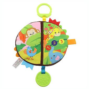 Colorful Interesting Cloth Book With Sound Paper Teether Plush Baby Fabric Book