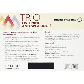 Trio Listening and Speaking: Level 1: Teacher's Online Practice Pack with Classroom Presentation Tool: Building Better Communicators...From the Beginning (Trio Listening and Speaking)