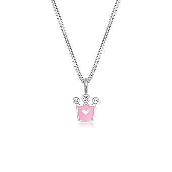 Elli Børns halskæde Legende Crown Vedhæng med Sterling 925 Silver Swarovski Krystaller