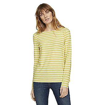 Tom Tailor 1024725 Long T-Shirt, 26386 Yellow Offwhite Stripe, S Woman