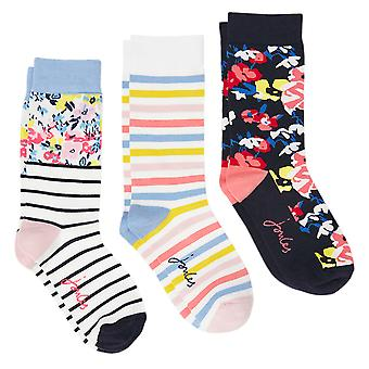 Joules Womens 3 Pack Brill Bamboo Casual Socks