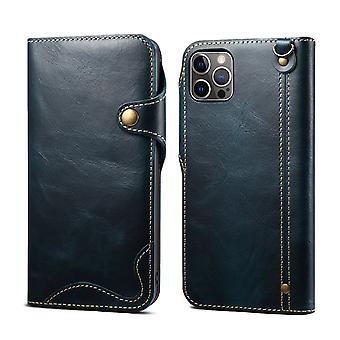 Slot per la custodia del portafoglio in vera pelle per samsung s20ultra blu pc1152