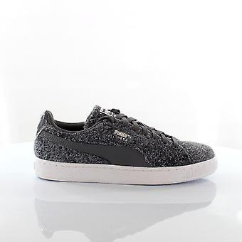 Puma Suede Elemental Womens Trainers Lace Up Shoes Grey Leather 361112 01