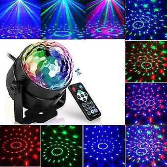 Son activé Rotatif Disco Ball Dj Party Lights 3w 3led Rgb Led Stage