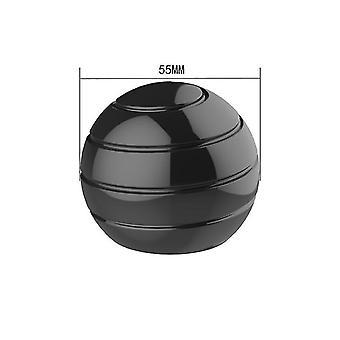 55mm שחור להסרה שולחן מסתובב הכדור העליון, קצות האצבעות מסתובב העליון, צעצוע לחץ az6323
