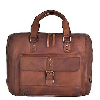 Laptop Compatible Genuine Vintage Leather Messenger Bag