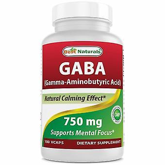 Best Naturals Gaba, 750 mg, 100 Veg Caps