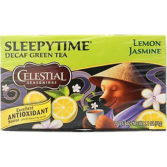 Celestial Seasonings Tea Grn Slpytime Lmn Jasm, Case of 6 X 20 Bags