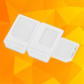 3 Adapters For Nano Sim Micro Standard Card Adapter Tray Holder For Iphone 5