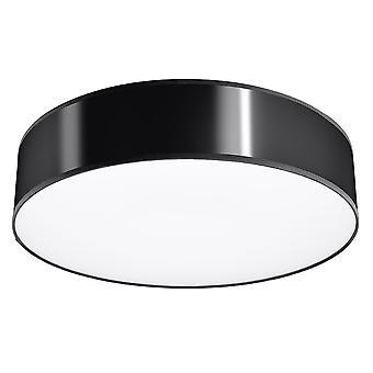 Cilíndrico Flush Light Black 55cm E27