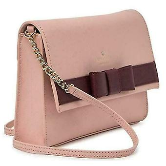 Kate Spade Veronique Pink Leather Crossbody Chain Bow WKRU4008