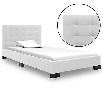 vidaXL Bed Frame White Leatherette 120 x 200 cm