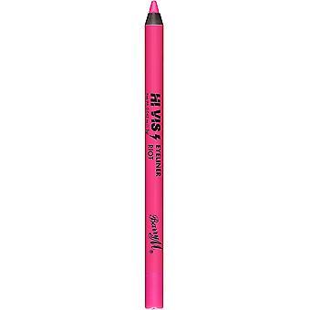 Barry M Hi Viz Neon Fet Vanntett Eyeliner Blyant - 3 Opprør Rosa