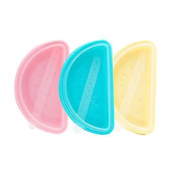 3-piece Reusable Soft Silicone Ice Cream Mold(Watermelon Shape)