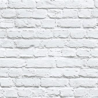Muriva malet hvid mursten tapet 102539