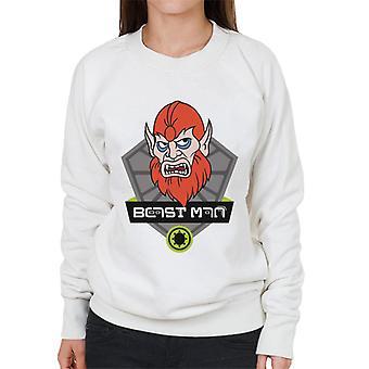 Mästare i universum Beast Man Karaktär Huvud Kvinnors Sweatshirt