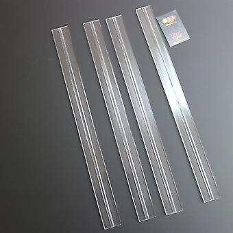 4 x 500mm low profile flex hinges,