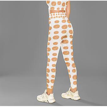 Чулочно-носожки с высоким принтом талии фитнес леггинсы