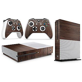 GNG Wood Skin Decal Sticker Compatible with Xbox One S Console + 2 Controller Skins