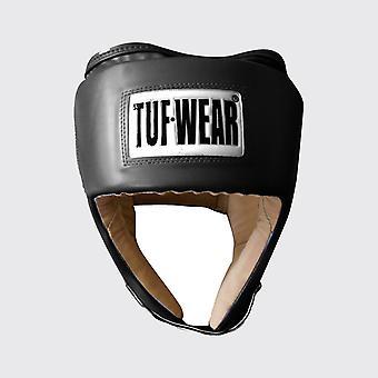 Tuf Wear Junior PU Open Face Headguard med PU Mocka Svart