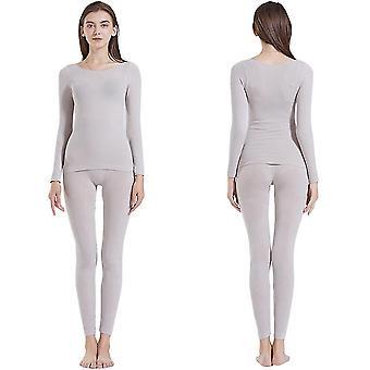 Lightweight Women Thermal Underwearsuit Ultra-thin Constant Temperature