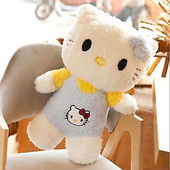 45cm Lockig kattkudde Hej Plysch Leksak Fylld Leksak Kit Kattdockor Anime Figur Leksaker För Barn Docka