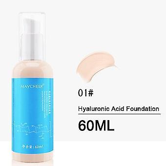 60ML Hyaluronsäure Bb Creme Moisturizer Alterung Kollagen Essenz Flüssigkeit| Körper Glitter (Lvory White)