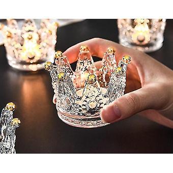 Kerzenhalter skandinavisch inspirierter Stil Krone Kristall Kerzenhalter m transparent