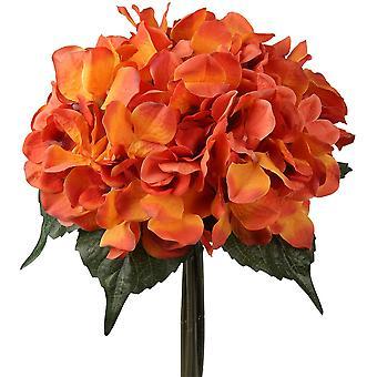 Künstliche Hochzeitsblumen Gefälschte Blumen Kunst Hortensie-Orange
