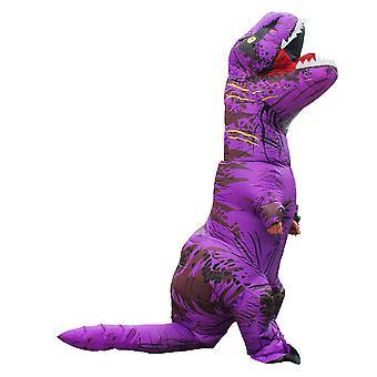 Purple Adult Tyrannosaurus Rex Inflatable Costume Adult Dinosaur Costume