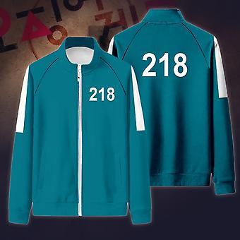 Bläckfisk spel jacka byxor cosplay sport dragkedja cardigan digital 218 skriva ut ficktröjor set