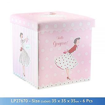 MRS SMITH tematu składane pudełko do przechowywania Imperium OSMAŃSKIEGO i siedziska 38x38x38cm