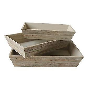 Set 3 of Wooden Packing Tray