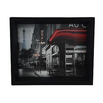 Rue Parisienne Framed Photographic 8 X 10 Shadowbox Wall Hanging
