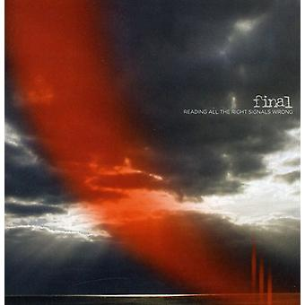 Final - Reading All the Right Signals Wrong [CD] USA import