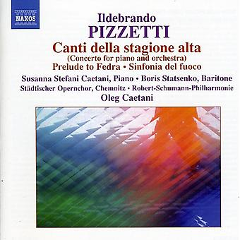 I. Pizzetti - Ildebrando Pizzetti: Canti Della Stagione Alta [DVD] USA import