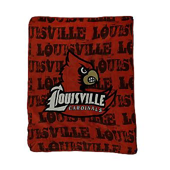 NCAA Louisville Cardinals Micro Raschel Plush Throw Blanket 46 x 60 inch