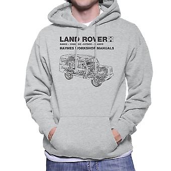 Haynes Workshop Manual Land Rover Black Men's Hooded Sweatshirt