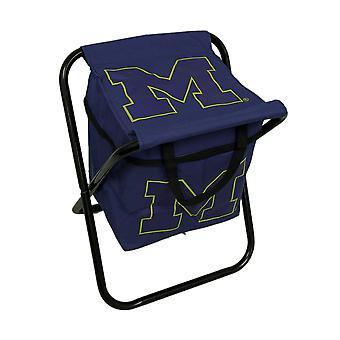 University of Michigan Wolverines Logo Portable Folding Cooler Seat