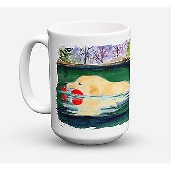Golden Retriever lavastoviglie sicuro Microwavable Ceramic Coffee Mug 15 oncia
